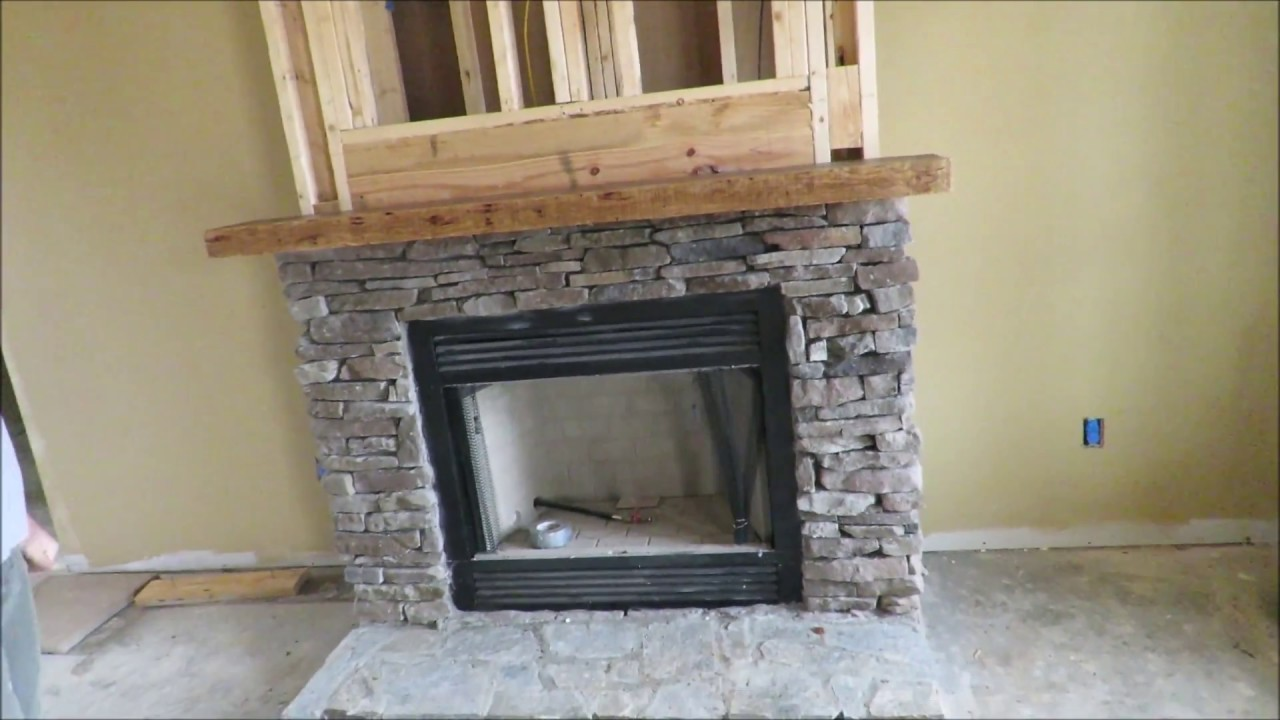 How To Make And Install A Rustic Mantle Solid Hickory 3 Thick Easy Way