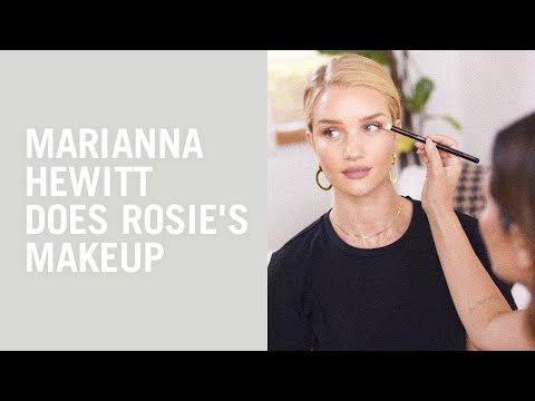 Everyday makeup tutorial with Marianna Hewitt and Rosie Huntington-Whiteley