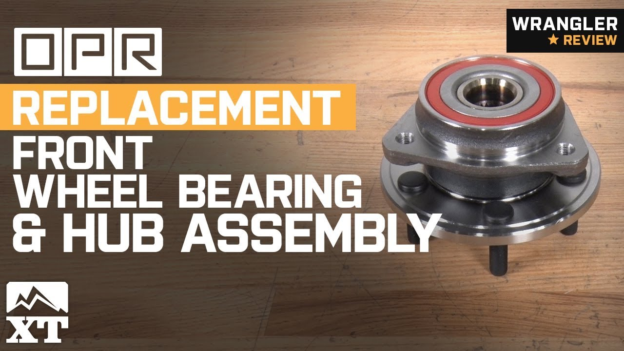 hight resolution of jeep wrangler opr replacement front wheel bearing and hub assembly 1999 2006 tj review