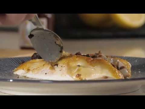 Recette du Chef : Poulet jaune cuit en croûte de spéculos et citron