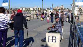 Huntington Beach Pier and People
