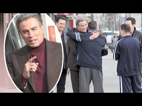 John Travolta Films John Gotti Movie in Brooklyn, New York | Splash News TV