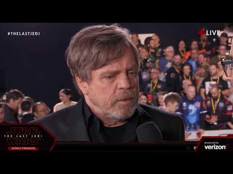 Mark Hamill Luke Skywalker interview - Star Wars The Last Jedi Red Carpet World Premiere