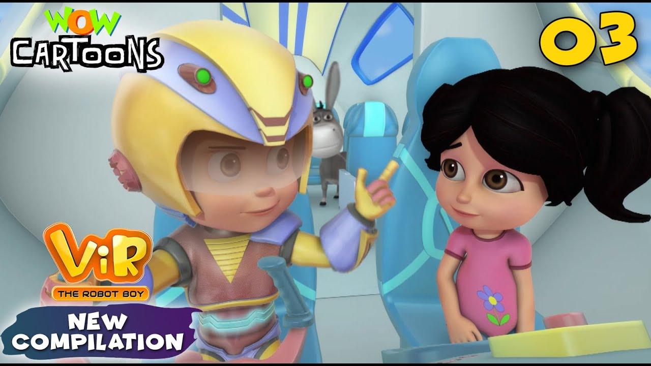 Vir the robot boy | Action Cartoon Video | New Compilation - 03| Kids Cartoons | Wow Cartoons