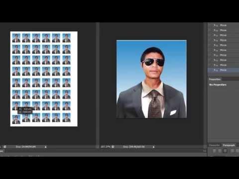 ทำรูปติดบัตรหรือรูปสมัครงานอย่างง่ายๆ ด้วยโปรแกรม Photoshop