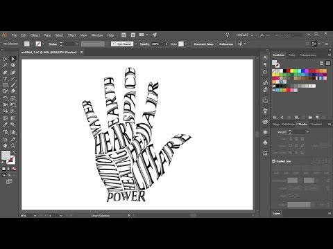 How to Fill a Shape with Text in Adobe Illustrator