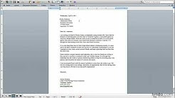 Productivity tutorial: Writing a letter of recommendation   lynda.com
