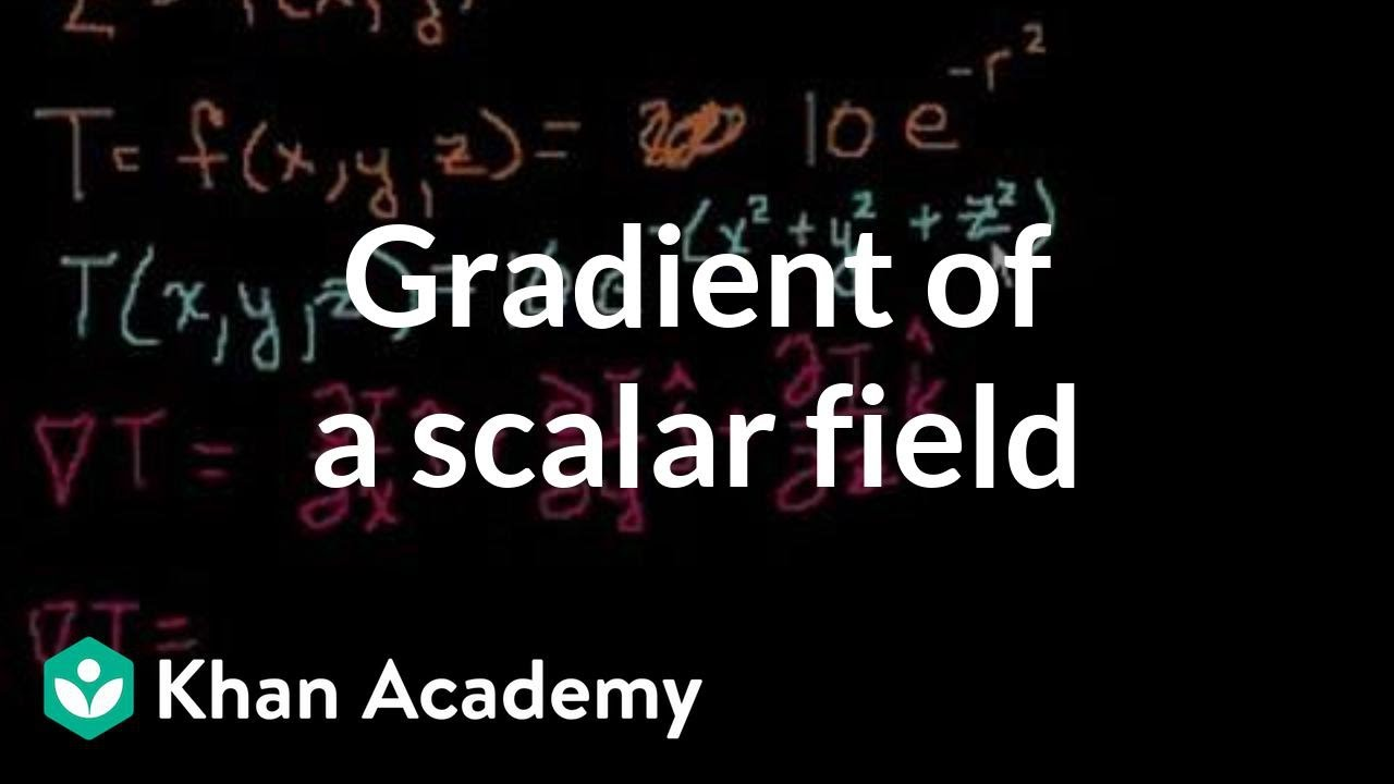 Gradient of a scalar field | Multivariable Calculus | Khan Academy