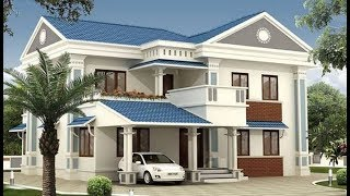 Small Modern Double Floor House 1300 Sft for 13 Lakh | Elevation | Interiors