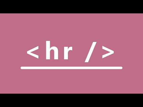 HTML Tags - Horizontal Line In HTML