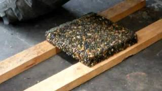 Strong Permeable Pebble paver test by axarock systems ltd nz thumbnail