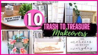 10 *MUST SEE* Trąsh to Treasure Projects| Upcycle DIY Home Decor | Thrifted Upcycle