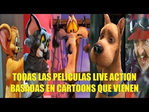 Todas las Peliculas Live Action Basadas en Caricaturas Que Vendran en los Próximo Años