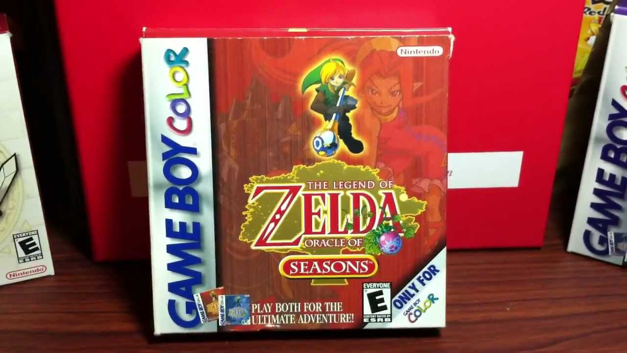 Game boy color legend of zelda -  Unboxing 20 The Legend Of Zelda Oracle Of Seasons Nintendo Gbc