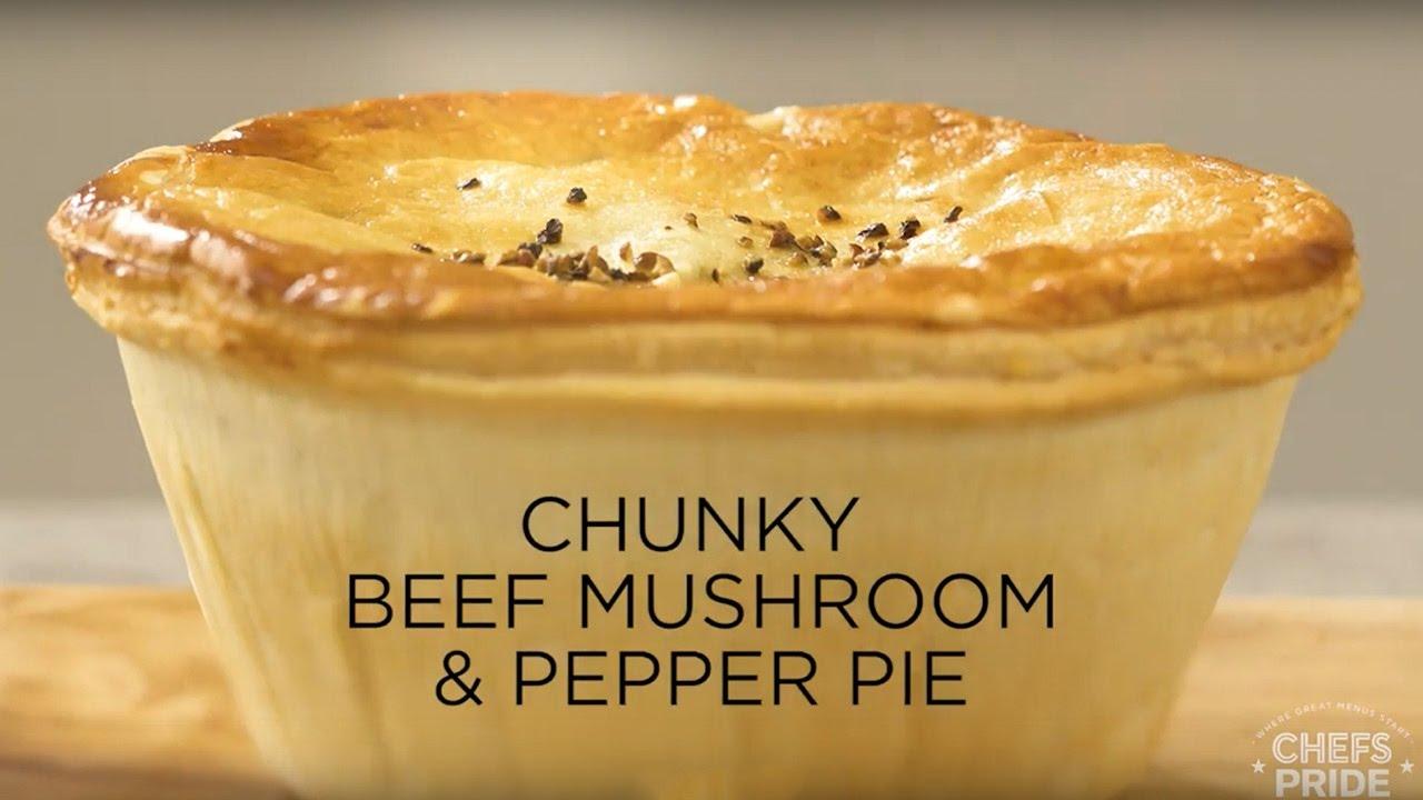 Chunky Beef and Mushroom Pie - YouTube