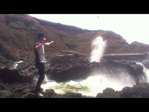 Spouting Horn near Cape Perpetua, Oregon Coast