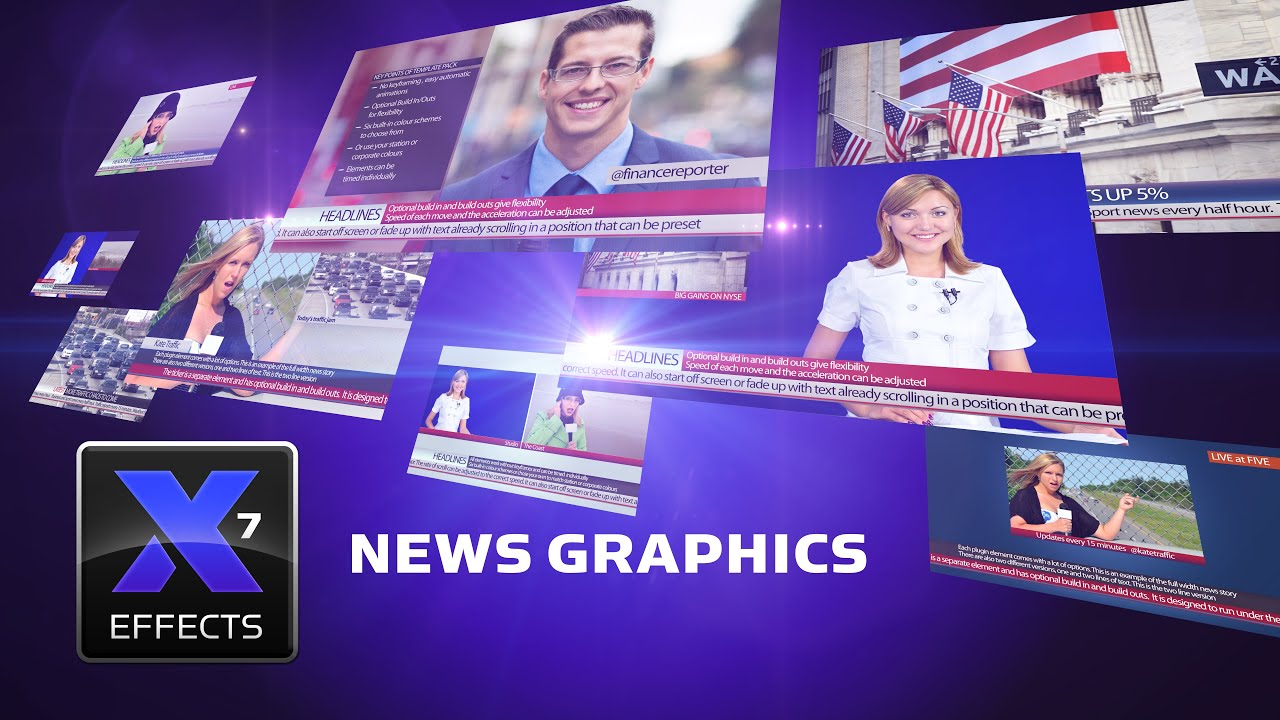 Xeffects News Graphics For Final Cut Pro X Fcpx Template Plugins