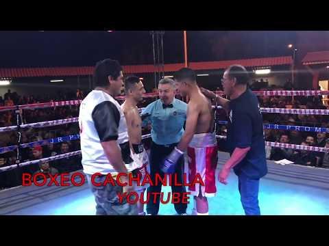 """EL FILI"" Montoya Vs ""VENADO"" Lopez Campeonato Costa del Pacifico Peso Super Pluma 24 Marzo 2018"