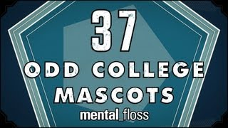 Repeat youtube video 37 Odd College Mascots - mental_floss on YouTube (Ep. 22)
