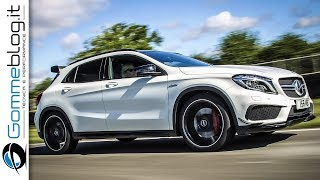 Mercedes GLA 45 AMG Interior Exterior + 381 HP TEST DRIVE and Sport SOUND