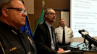 Janesville police hold press conference on Wednesday homicide