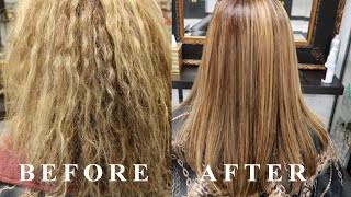 HOW TO USE: Argan Oil Keratin Smoothing Treatment: For Curly, Frizzy, Dry Hair | Elegance Hair Care