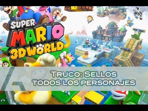 Super Mario 3D World | Truco: Sellos de todos los personajes (Character Stamps Trick)