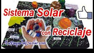 Sistema Planetario Solar 🌌👨🚀🪐con Reciclaje ♻️