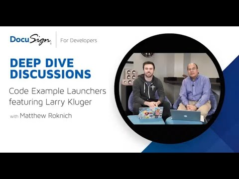 DocuSign Developer: Code Example Launchers