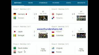 fifa world cup 2018 highlights and schedule 25 june 2018