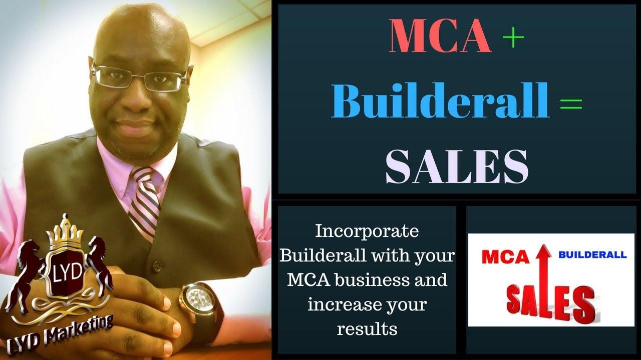 MCA + Builderall = Sales