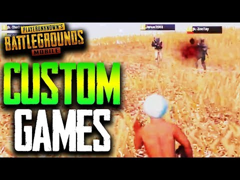 how to create a custom game in pubg