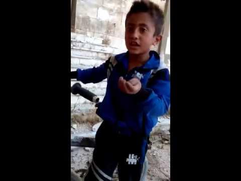 طفل سوري عن ألف رجل ! بمثله ستنتصر سوريا الجريحة.