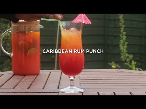 FRUITY Caribbean RUM PUNCH recipe! Made EASY!