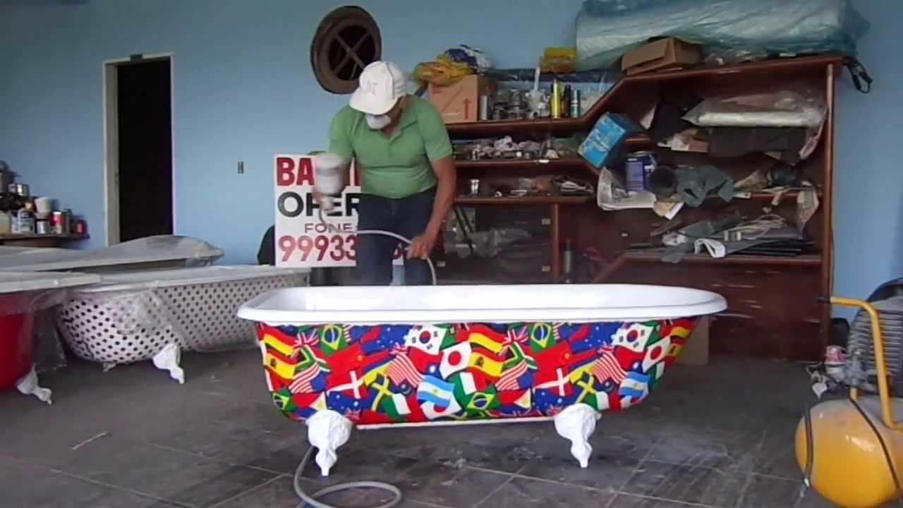 Conserto de banheira de plástico, fibra, ferro ou acrilico, conserto de racha -> Banheiro Com Banheira De Ferro
