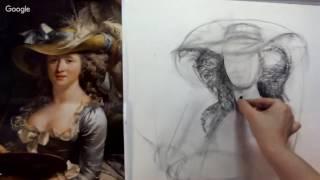 ПОРТРЕТ. Интенсивный курс рисования портрета. Запись с вебинара  Фрагмент2