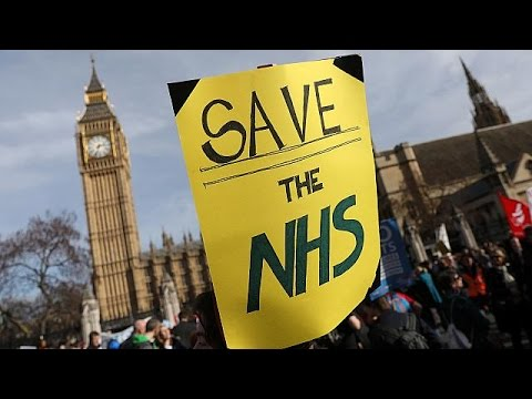 Thousands march amid fears over NHS cuts