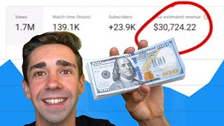 How Much YouTube Paid Me For 1,000,000 Views (Not Clickbait)