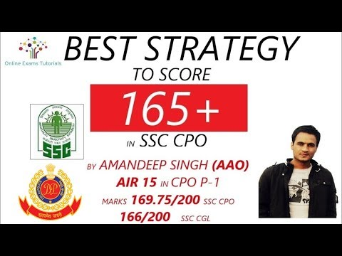BEST STRATEGY TO SCORE 165+ IN SSC CPO 2018