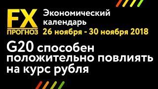Смотреть видео G20 способен положительно повлиять на курс рубля | Экономический календарь для трейдеров онлайн