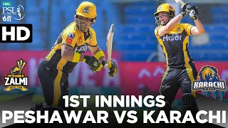 PSL 2021 1st  Nnings Peshawar Zalmi Vs Karachi Kings Match 13 MG2E