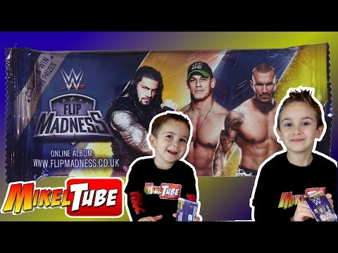 WWE FLIP MADNESS nuevos sobres de WWE en Mikel Tube