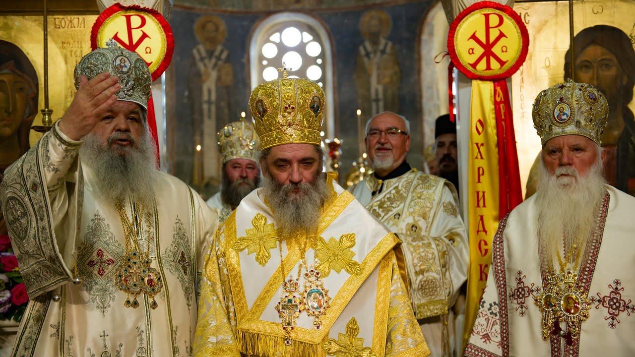 Хиротонија за епископ Антаниски на старец и игумен Партениј Бигорски -  YouTube