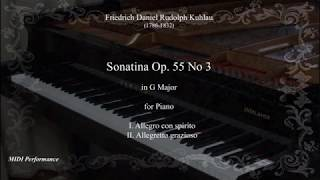 Friedrich Kuhlau: Sonatina Op. 55 No 3 in C Major (Complete)