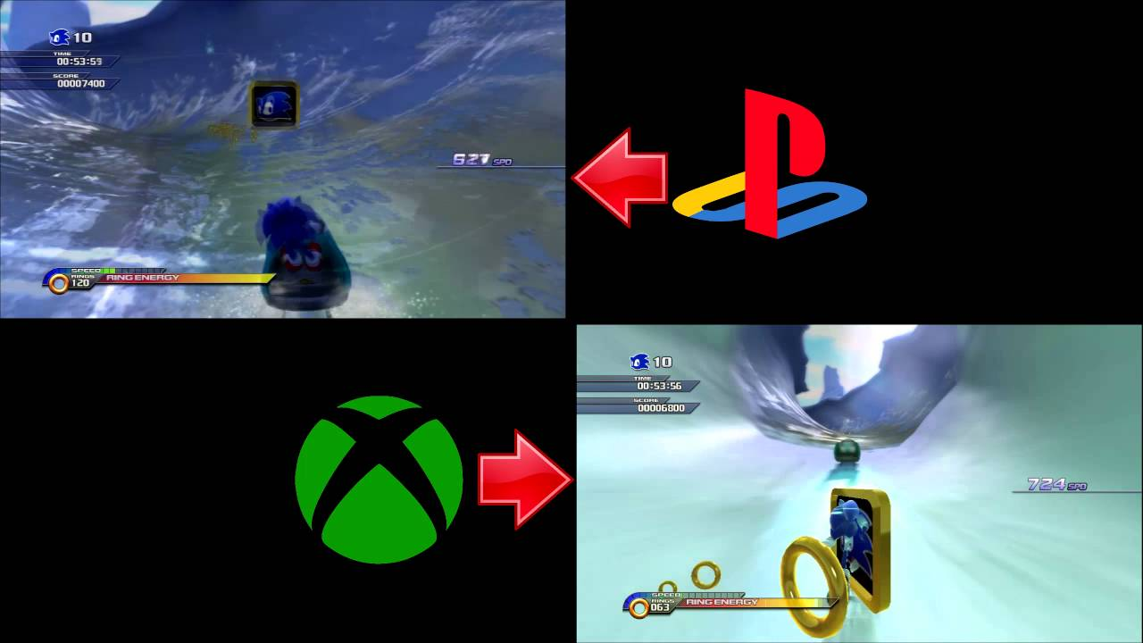 sonic unleashed ps3 vs xbox 360 comparison youtube