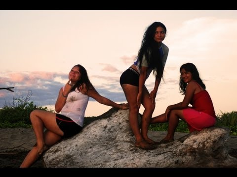A Trio of Nicaraguan Girls Learning to Surf With Amigas