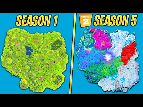 Evolution Of The Entire Fortnite Island Season 1 Chapter 2 Season 5 Youtube
