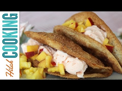 How to Make Ice Cream Tacos |  Hilah Cooking