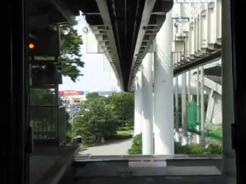 Chiba Urban Monorail Line 2 Chiba to Chishirodai Führerstandsmitfahrt 千葉都市モノレール2号線千葉~千城台前前面展望