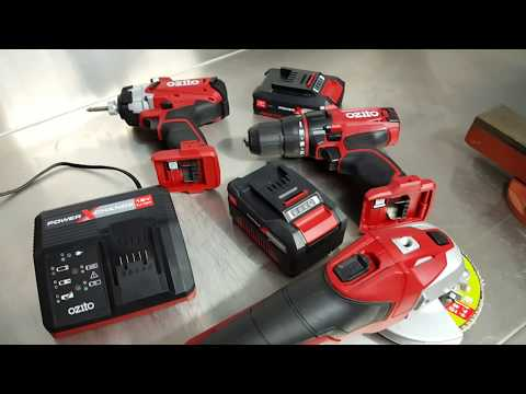 Ozito Power X Change 18v lithium ion Drill, Impact Driver & Angle Grinder review